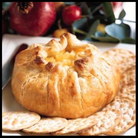 Baked Brie en Croûte with Apple Compote   by Williams Sonoma.