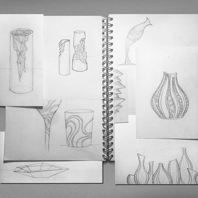 Sketches✏️ #drawing #design #project #sketchbook #crystal