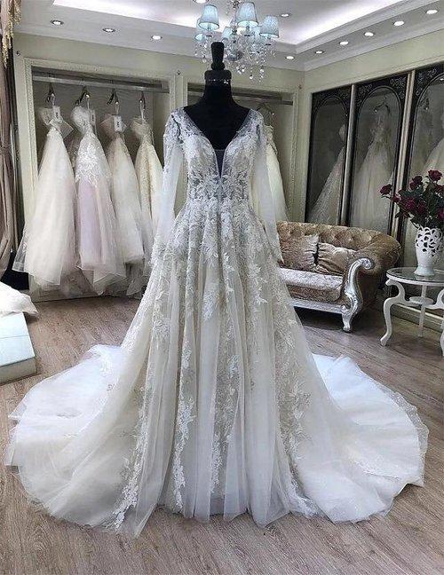 7073ae65556 Hana 2019 Long Sleeve Wedding Dress — ZAYNAB SMITH