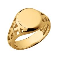 Timeless 18kt Yellow Gold Vermeil Signet Ring