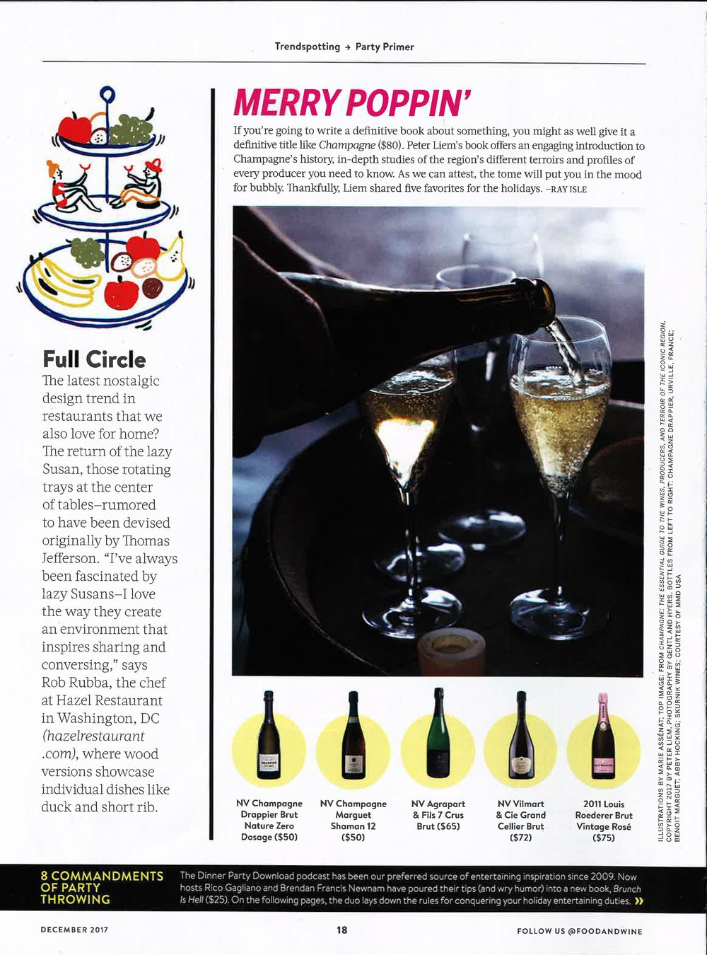 Food and Wine, December 2016