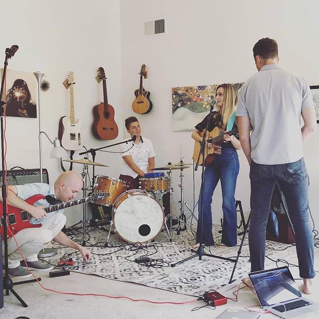 Fun time #1 of today was hanging out with these incredible people and shooting some videos of @chrisavetta's music! 🎥 Thanks to @beaudoesgo for shooting and directing and fixing Chris' hair (that could have been embarrassing). 🎸 Also, I never tire of hearing @facemeltingsolos work magic on a guitar!