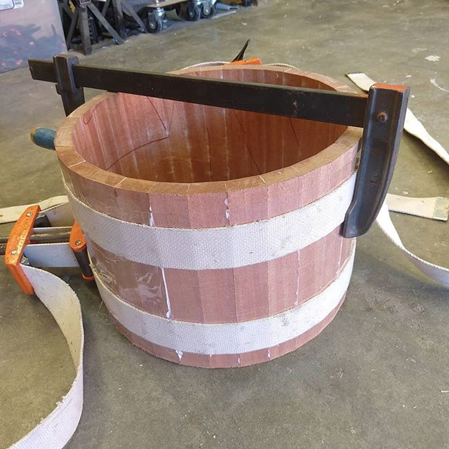 Reverse order progress shots from day one of the first @sugarpercussion snare building class. I am loving this so much! 🤯 In case you're worried, I still have all my fingers. In case you're curious, it's mahogany. In case you're jealous, he'll be doing another class soon!