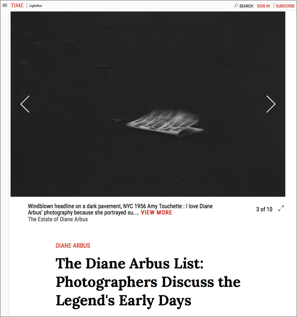 TIME LightBox,The Diane Arbus List - NOVEMBER 18, 2016 As Diane Arbus' landmark exhibition at the Met Breuer,