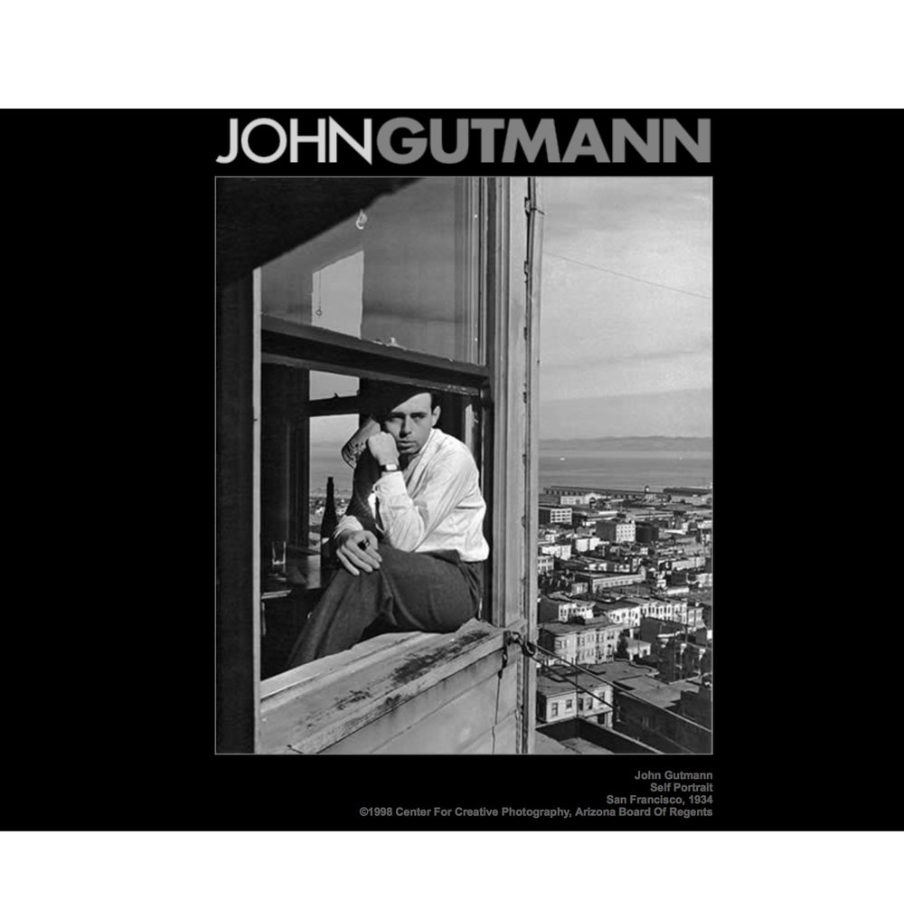 2017 John Gutmann Photography Fellowship Award Nominee - NOVEMBER 2015 For over sixty years, John Gutmann made an imprint as an artist and educator on the development of photography as an art form. Through his philanthropic generosity, annual awards of $5,000 to $10,000 are made to an emerging photographers in the field of creative photography, who exhibits professional accomplishment and serious artistic commitment, along with financial need. The candidates for The John Gutmann Photography Fellowship Award are determined by nomination only. The candidates are nominated and the portfolios are juried by professionals who were appointed by John Gutmann, according to the criteria outlined in The John Gutmann Photography Fellowship Trust.