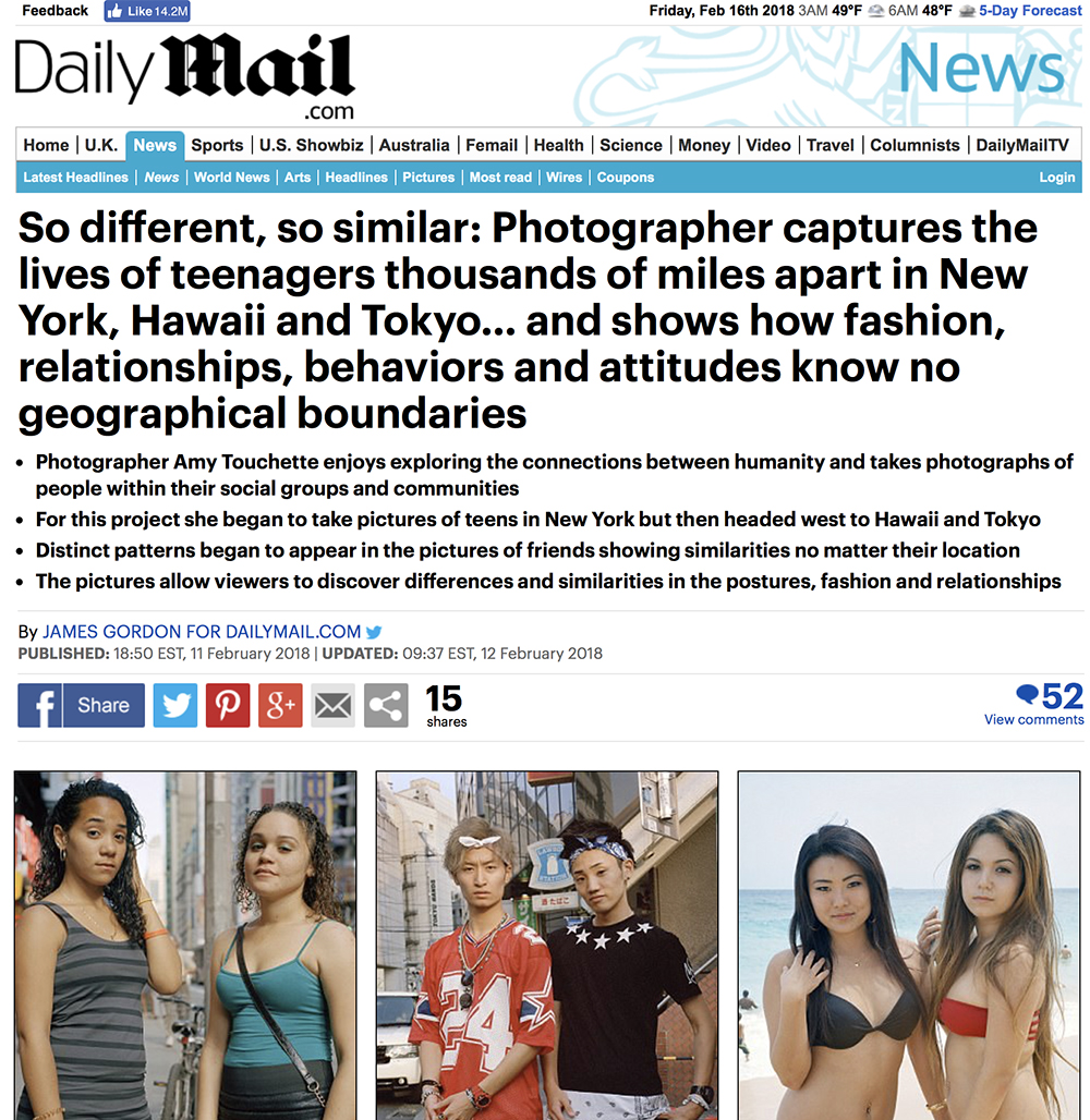 The Daily Mail,The Young Series  - FEBRUARY 11, 2018 The Daily Mail publishes a feature article about The Young Series.