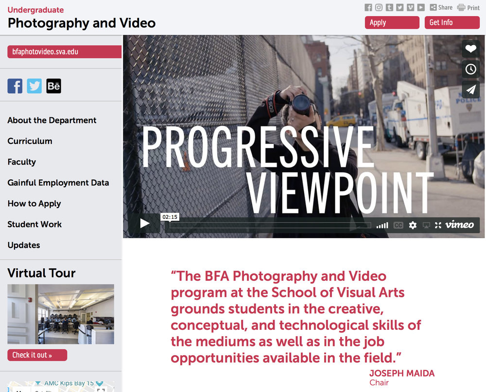 GUEST LECTURESchool of Visual ArtsNYC - NOVEMBER 28, 2018 Amy presents her work to students in the
