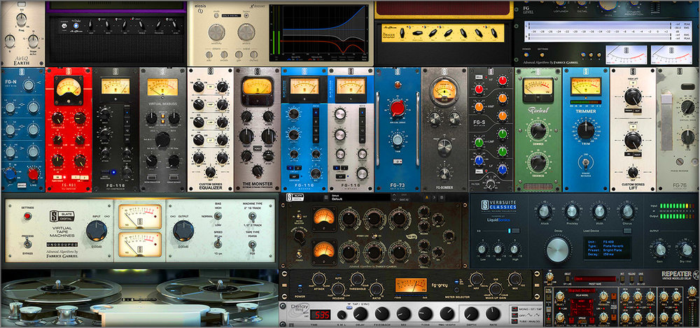 Slate Digital Suite - Everything   World class plugins from a fantastic, forward thinking company dedicated to a twist of difference and sometimes better emulations of real gear classics.