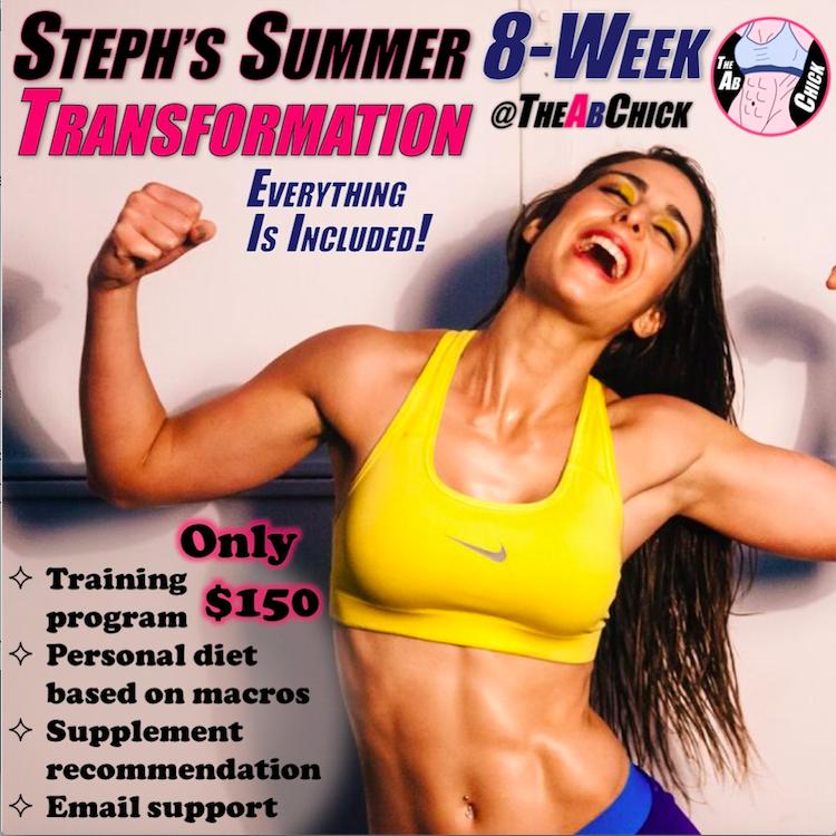 Summer Transformation Program The Ab Chick