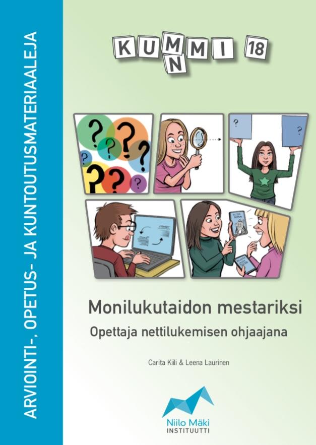 Kirjamme nettilukemisen opettamisesta ilmestyy huhtikuun loppupuolella. kirjaa voi tilata NMI:n verkkokaupasta  bit.ly/Kummi18
