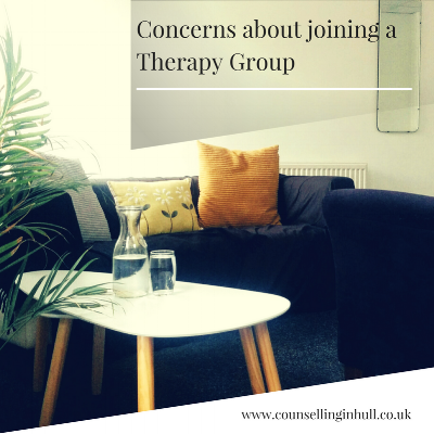 worried about joining a therapy group