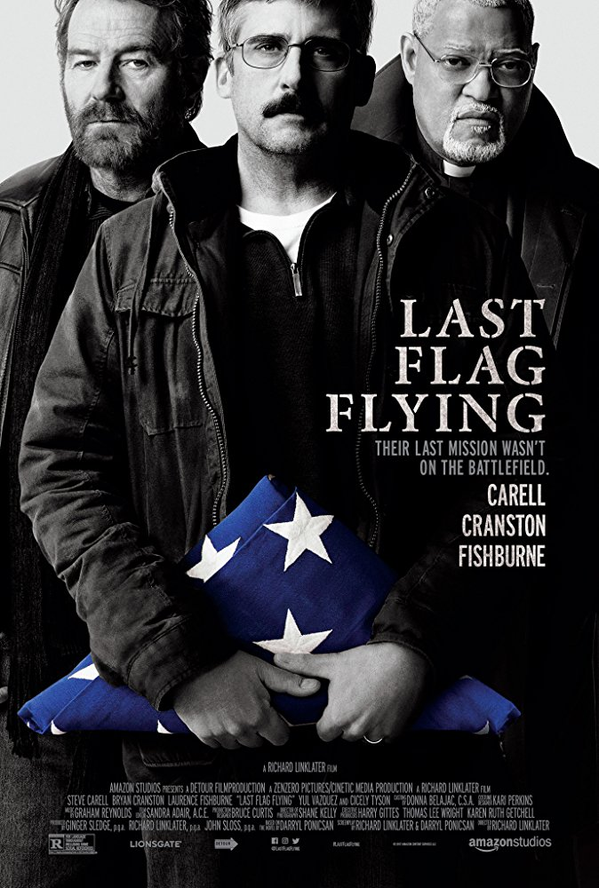 Last Flag Flying  Dir. Richard Linklater (narrative feature)  Design, edit, foley record, re-recording, and Dolby printmastering.