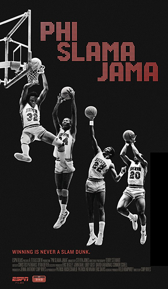 Phi Slama Jama  Texas Crew Productions for ESPN. (TV documentary)  Edit and re-recording.
