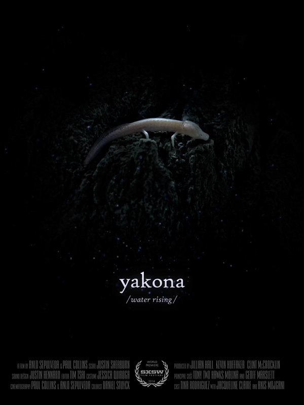 Yakona  Dirs. Paul Collins, Anlo Sepulveda (documentary feature ) Design, edit, re-recording.