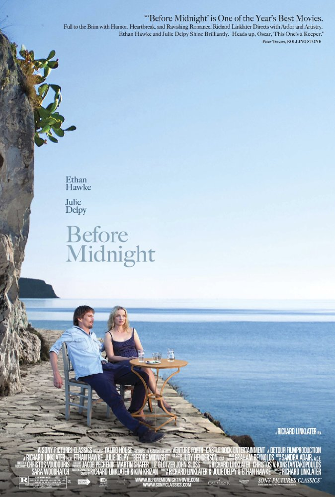 Before Midnight  Dir. Richard Linklater (narrative feature)  Editing, design, re-recording.