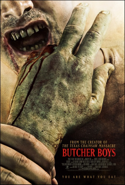 Butcher Boys  Dir. Kim Henkel, Duane Graves and Justin Meeks   (narrative feature)  Editing, design, foley recording, ADR recording and re-recording.