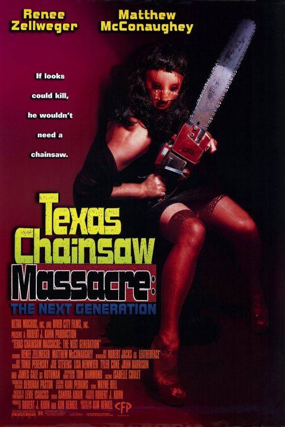 Texas Chainsaw Massacre: The Next Generation    Dir. Kim Henkel (narrative feature)  Editing, sound design. Effects editing at Danetracks. Re-record mixing at Austin Recording Studio.