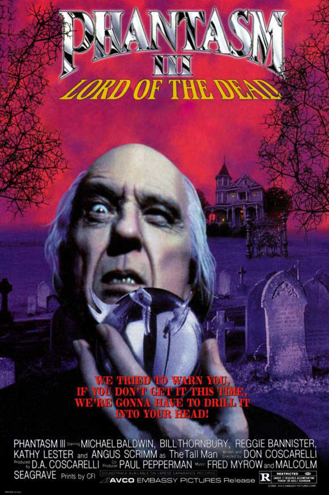 Phantasm III: Lord of the Dead  Dir. Don Coscarelli (narrative feature)  Foley editing.