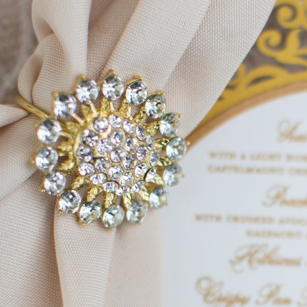 Gold Crystal Napkin Ring