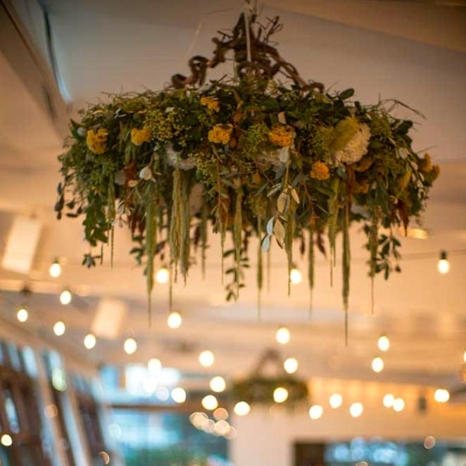 Floral Wreath Chandelier