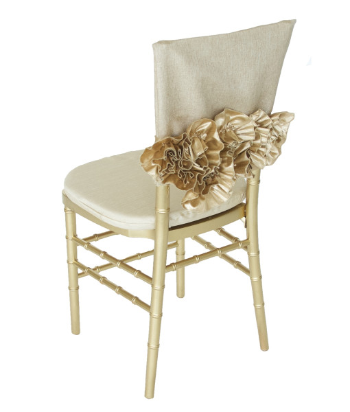 Preston Bailey Luxury Linen Collection - Sofia gold chair cap and band - Image 2.jpg