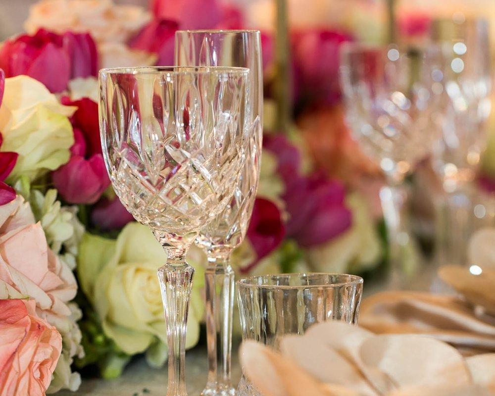 crystal cut glassware