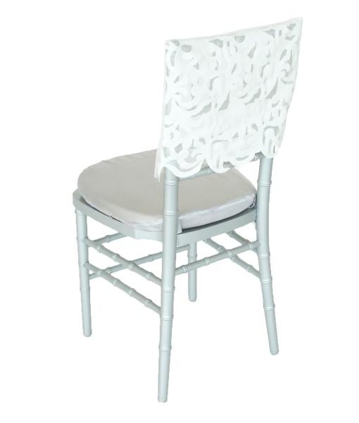 White Iris Luxury Chair Cap