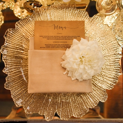 Crystal Cut Charger Plate