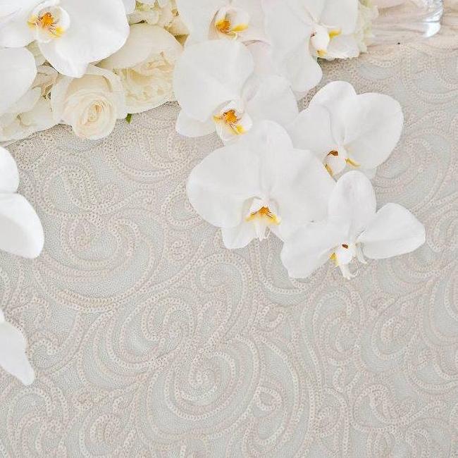 Ivory Paisley Luxury Linen