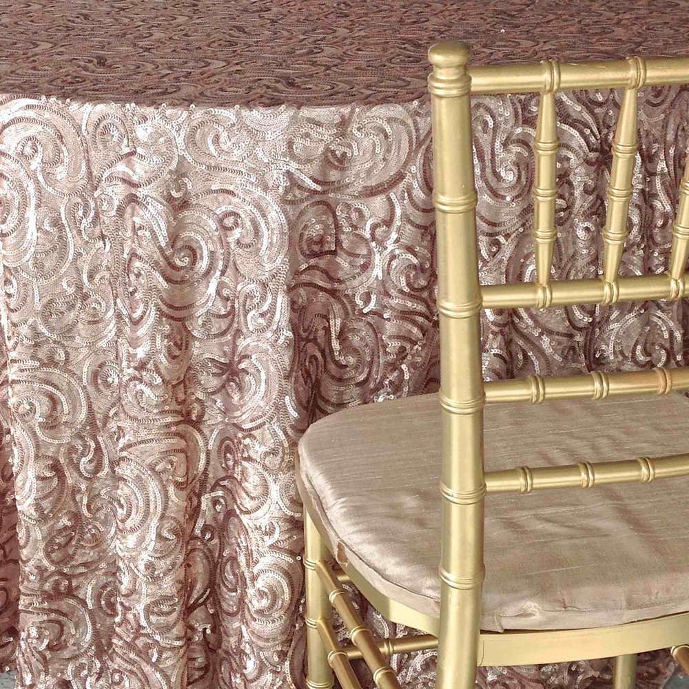 Champagne Paisley Luxury Linen