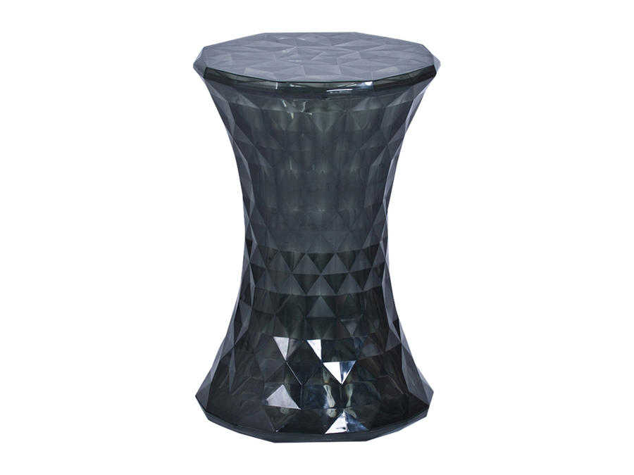 Black Geometric Perspex Stool