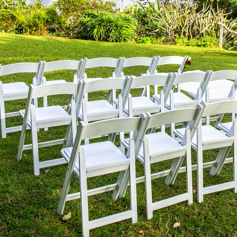 White Fold Up Padded Chairs