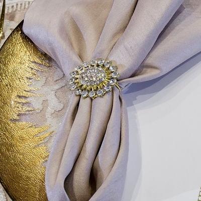 Gold Crystal Napkin Ring