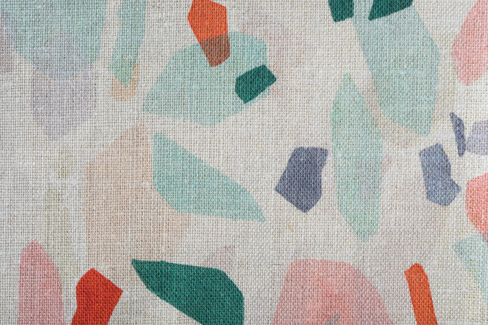 Shapes Mint fabric