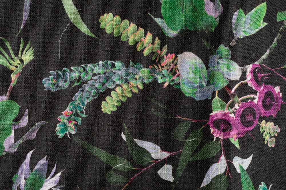 Garden Charcoal fabric