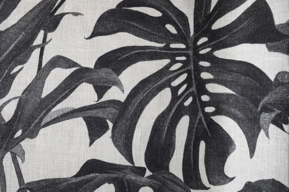 Foliage Charcoal fabric