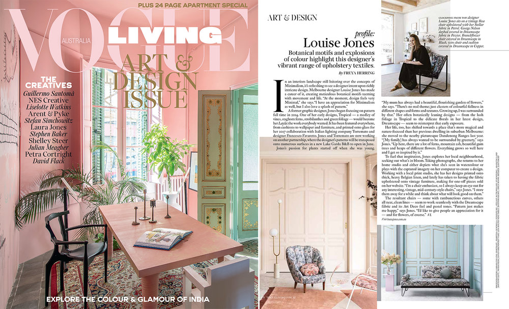 Louise Jones press Vogue Living May June