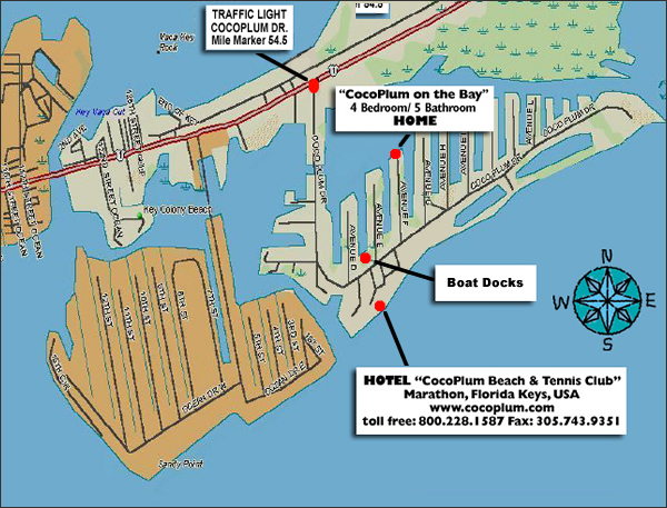 Florida Keys Map With Mile Markers.Directions Coco Plum Beach And Tennis Club And Marina