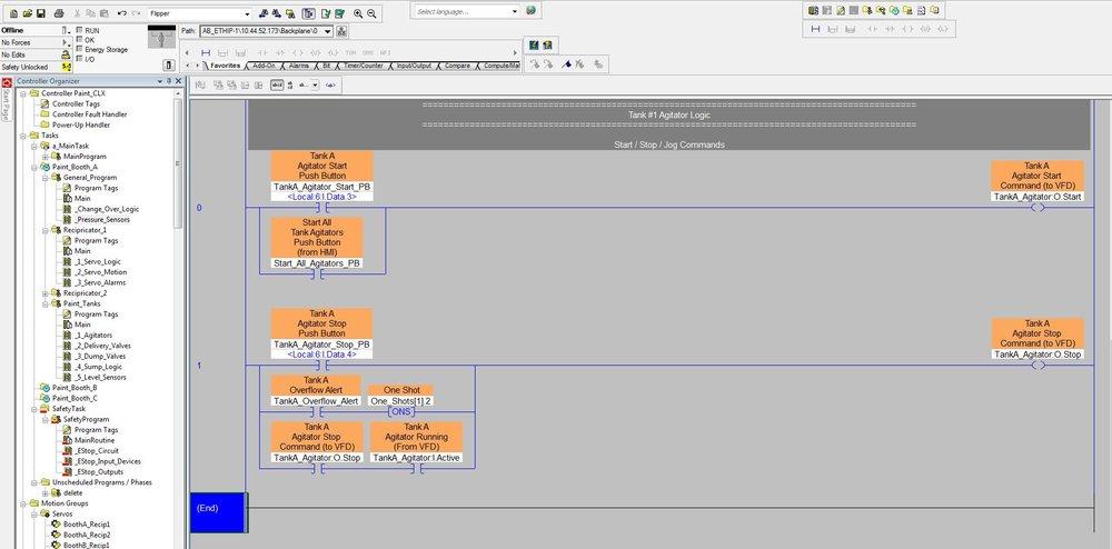 Ladder Logic PLC Code