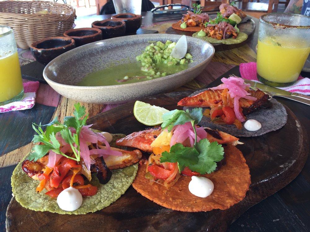 Tacos al pastor from La Zebra