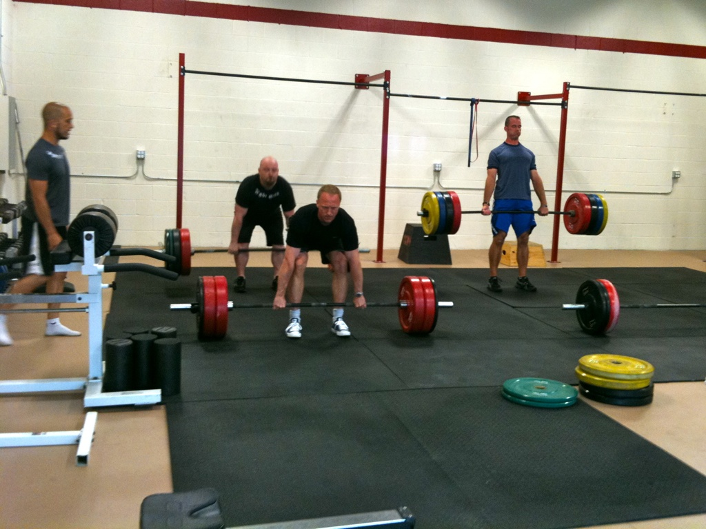 Jake, Paul, and Sean lift heavy, keep form strict