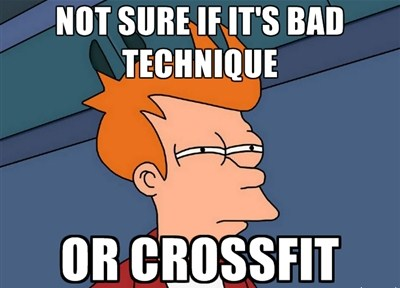 bad technique or crossfit