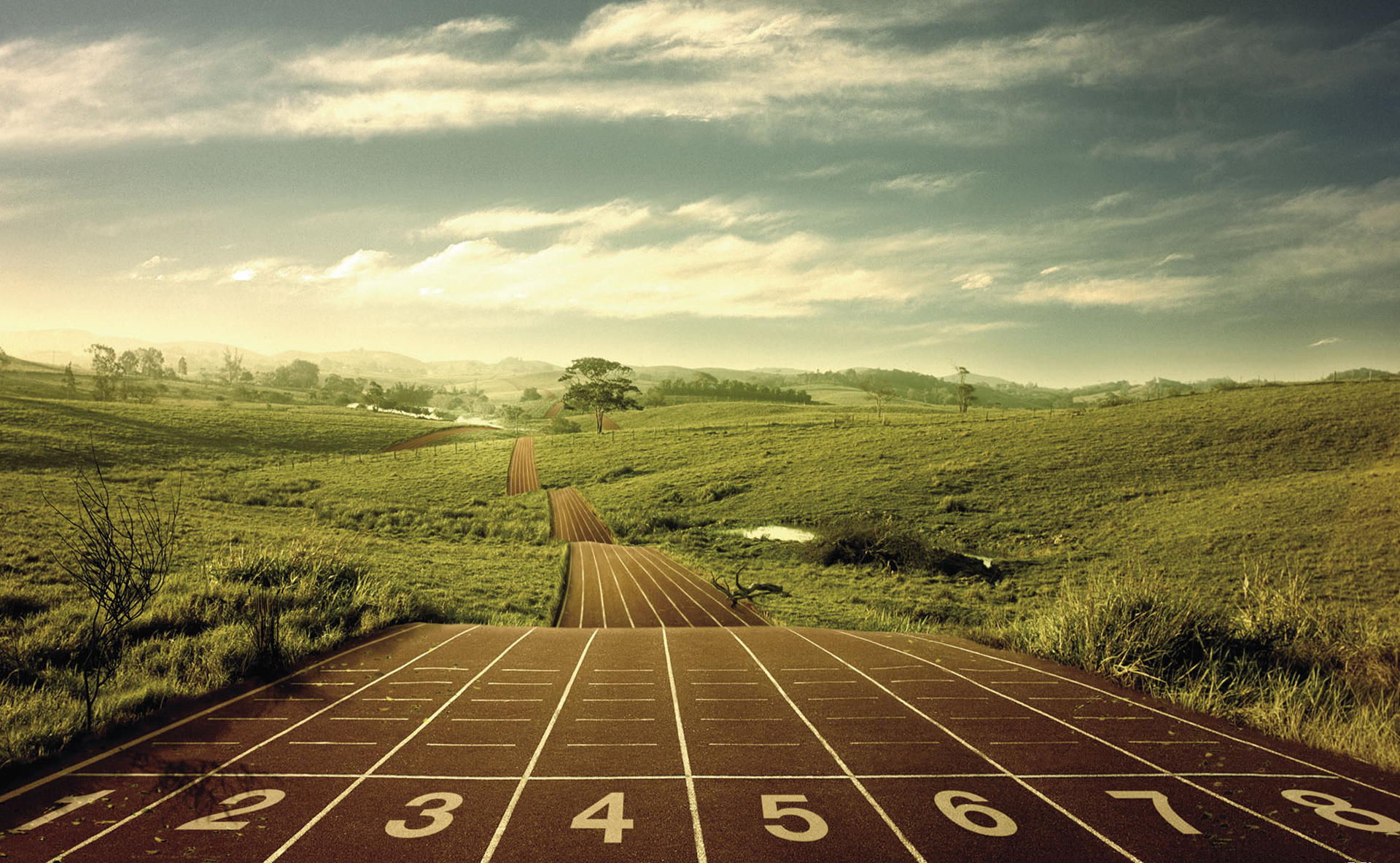 track cross country scenery