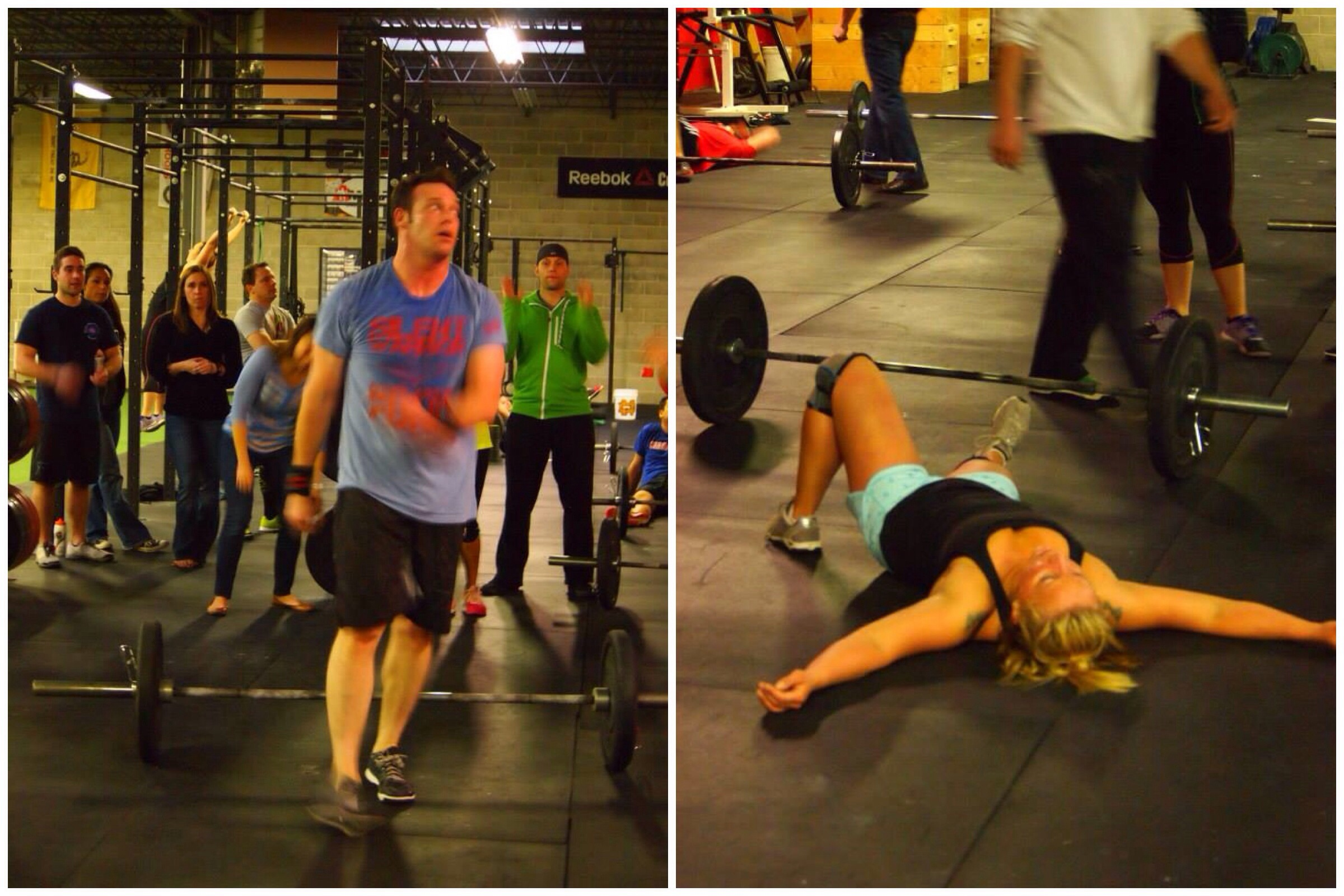 Jason J. and Katie M. finish up Open WOD 14.5