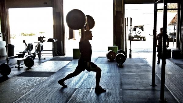 Split Jerk Silhouette, courtesy of CrossFit Peoria
