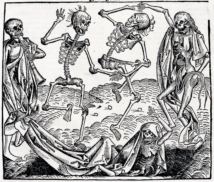 Danse Macabre by Michael Wolgemut, 1493
