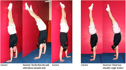 Hollow Handstand Positions