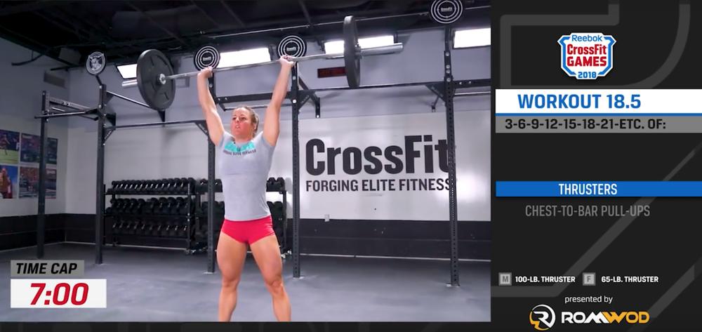 CrossFit Open Workout 18.5