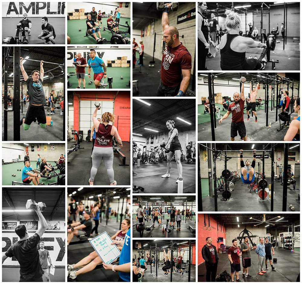 2018 CrossFit Open 18.1 collage