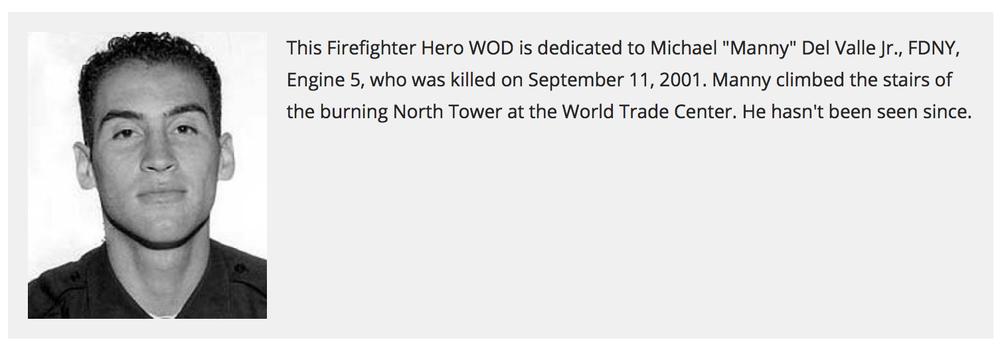"Hero WOD ""Michael Del Valle, Jr."""